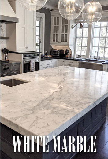 White Marble Kitchen Countertop Materials