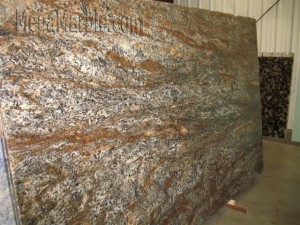 Granite slab copper meteorite
