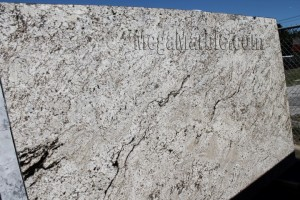 lucky white polished Granite Slab